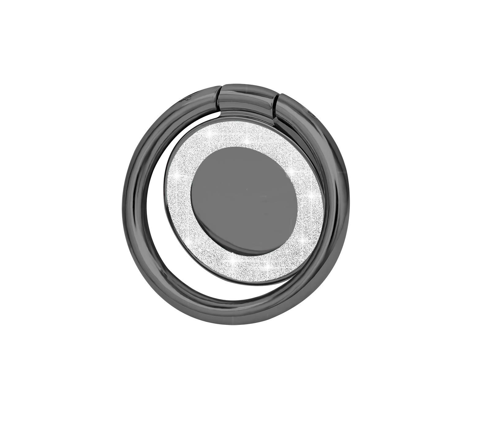 lenoup Glitter Bling Bling Phone Ring Holder,Sparkle Phone Ring Kickstand,Cell Phone Finger Ring Grip for Almost All Phones(Black)