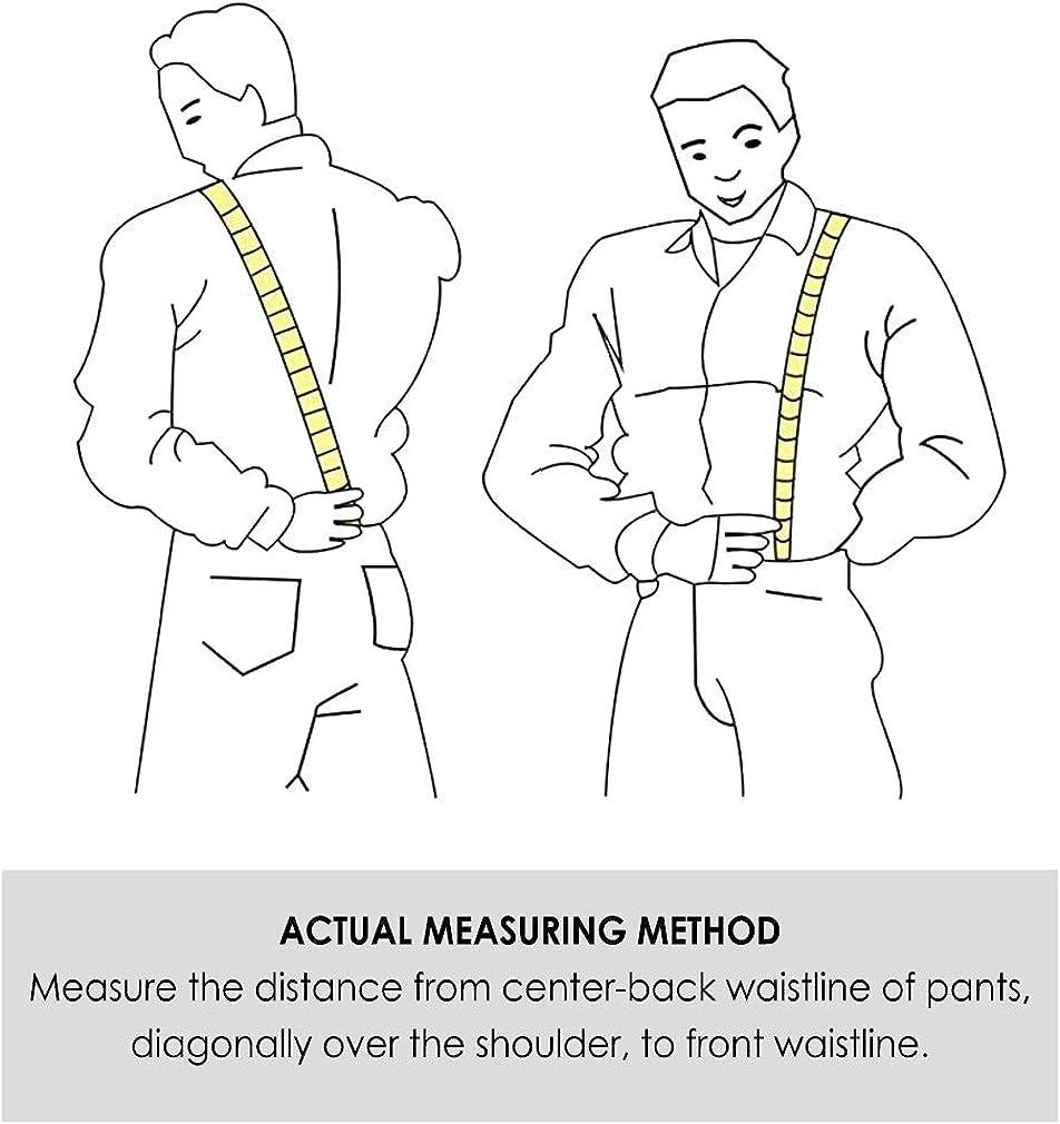 HISDERN Varios Clasico 6 clips Suspendedor /& Bowtie /& Panuelo de bolsillo Conjunto Forma Y Ajustable Tirantes