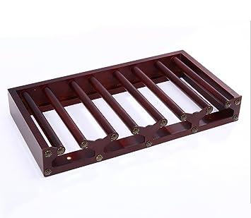 ZHDC® Portavasos de madera maciza Portavasos de vidrio invertido Colgante para el hogar Portavasos alto