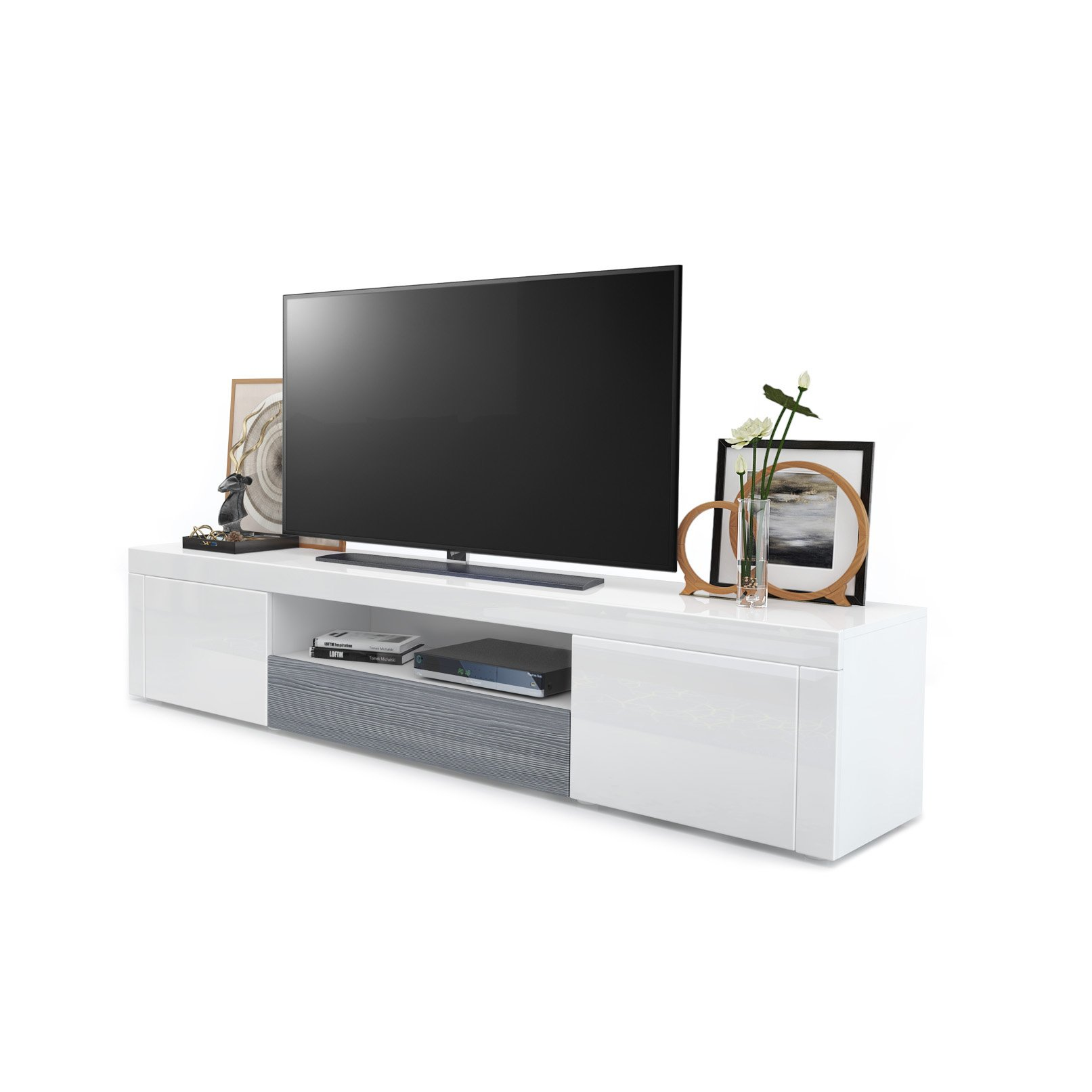 White High Gloss Tv Unit: Amazon.co.uk