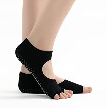 Aszhdfihas Calcetines de Yoga Sra. con los Dedos Abiertos Halter Finos Pilates Antideslizantes Calcetines de