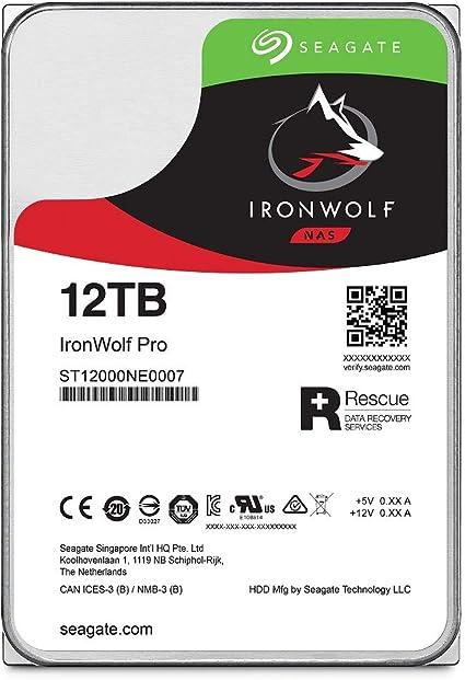 Seagate St12000ne007 12tb Ironwolf Pro Nas Hard Drive Computers Accessories
