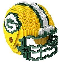 Green Bay Packers NFL 3D BRXLZ Construction Toy Blocks Set - Helmet