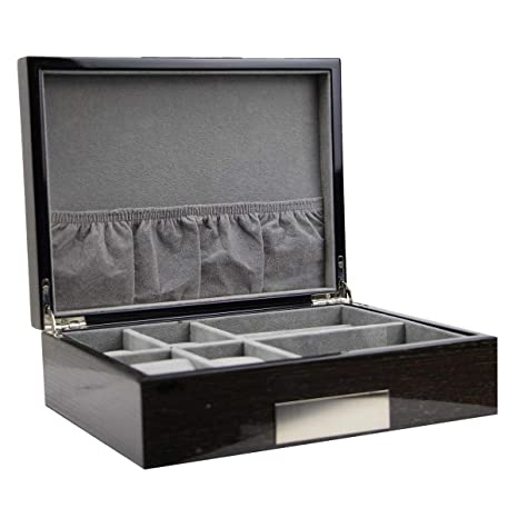 Amazon.com: Caja de joyería de alta clase ejecutiva para ...