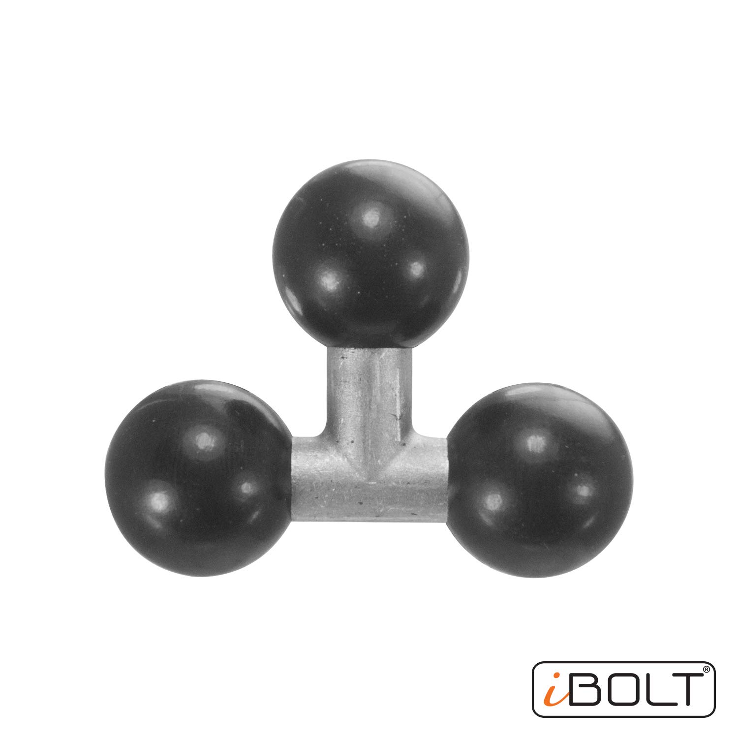 1 inch iBOLT Triple 25mm 1 inch to 25mm Three Metal Ball Joint Extension Adapter for Industry Standard Dual Ball Socket mounting arms