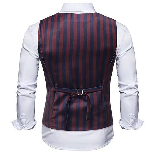 Resplend Hombres Raya Informal Chaqueta sin Mangas Impresa Escudo británico Traje Blusa Chaleco: Amazon.es: Ropa y accesorios
