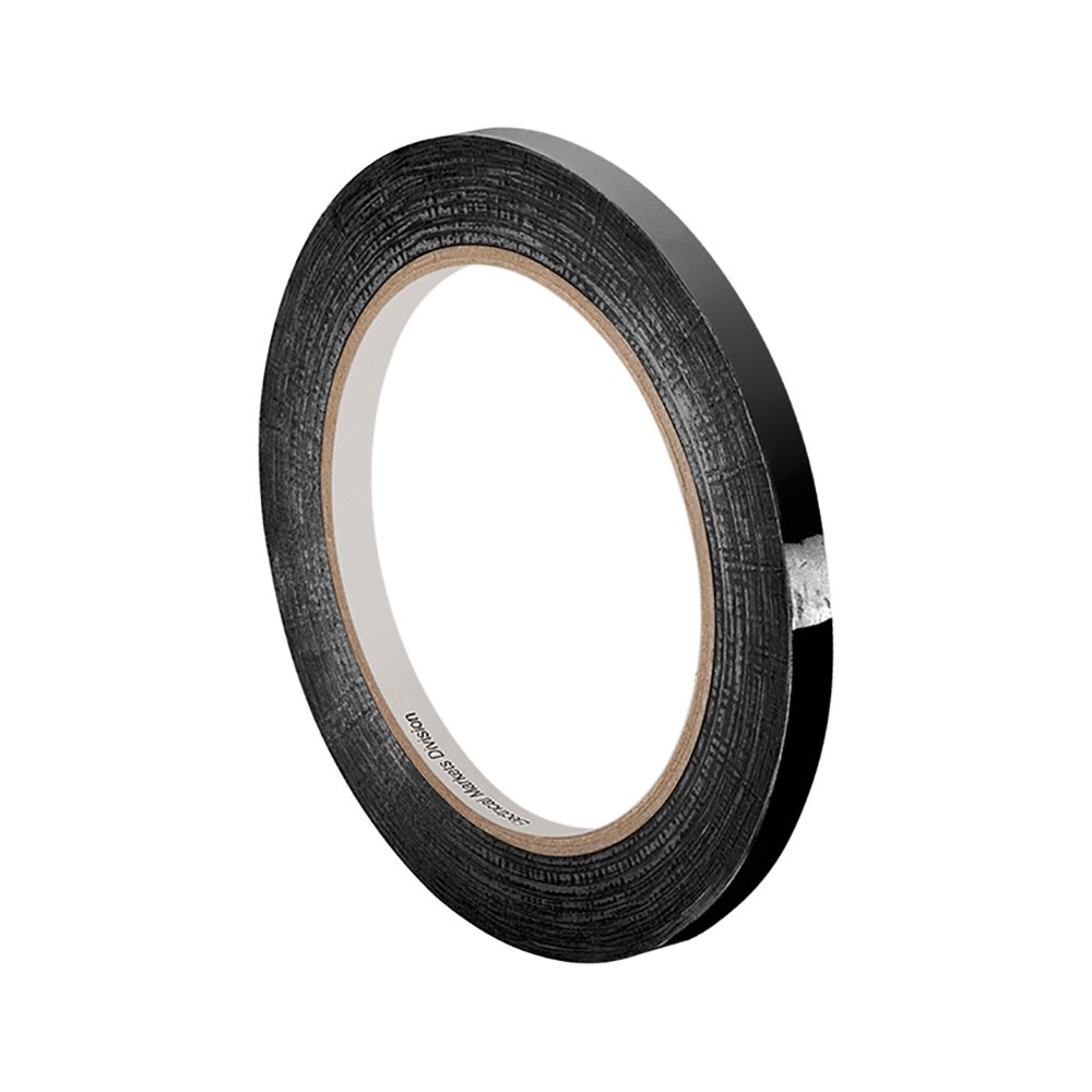 """3M 1318-1B 0.125""""X72yd (PK-4) Black Polyester Film Electrical Tape, 266 Degrees F Performance Temperature, 0.0025"""" Thickness, 72 yd Length, 0.125"""" Width (Pack of 4)"""