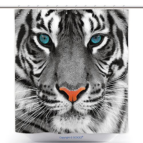 Tiger Woods Halloween Costume Ideas (Fun Shower Curtains Close Up Of A Tiger 40608031 Polyester Bathroom Shower Curtain Set With Hooks)