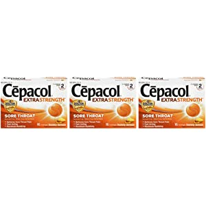 Amazon com: Cepacol Extra Strength Sore Throat, 16 Lozenge