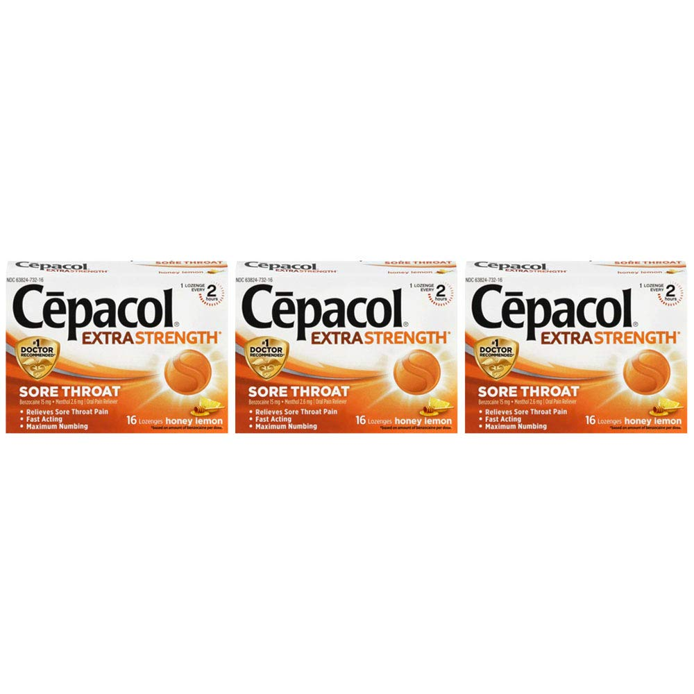 Amazon com: Cepacol InstaMax Sore Throat & Cough Drop