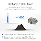 USB Rechargeable Batteries, Long-Life Lithium