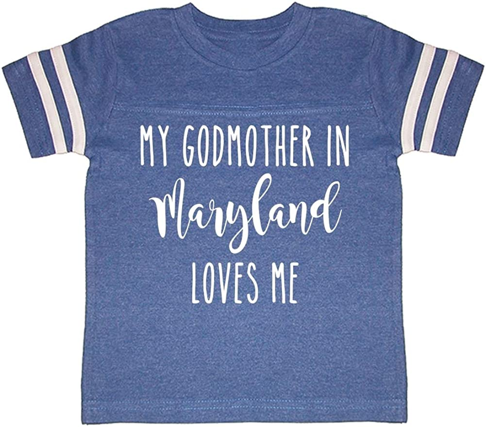 My Godmother in Maryland Loves Me Toddler//Kids Sporty T-Shirt