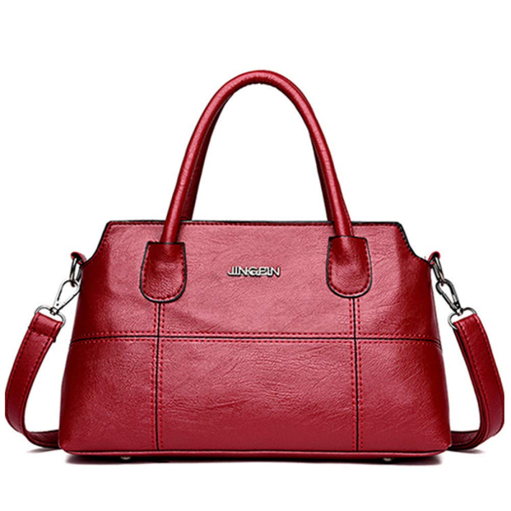 Winered 30x10x18cm GSYDXKB Solid Women Totes Handbag Lady Party Bag Casual Crossbody of The Messenger Shoulder Bags Tote Bag Casual