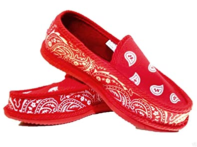 2e18447ab6fc RED Bandana House Shoes Slippers Trooper Size 9 10 11 12 13 PIRU Blood (8