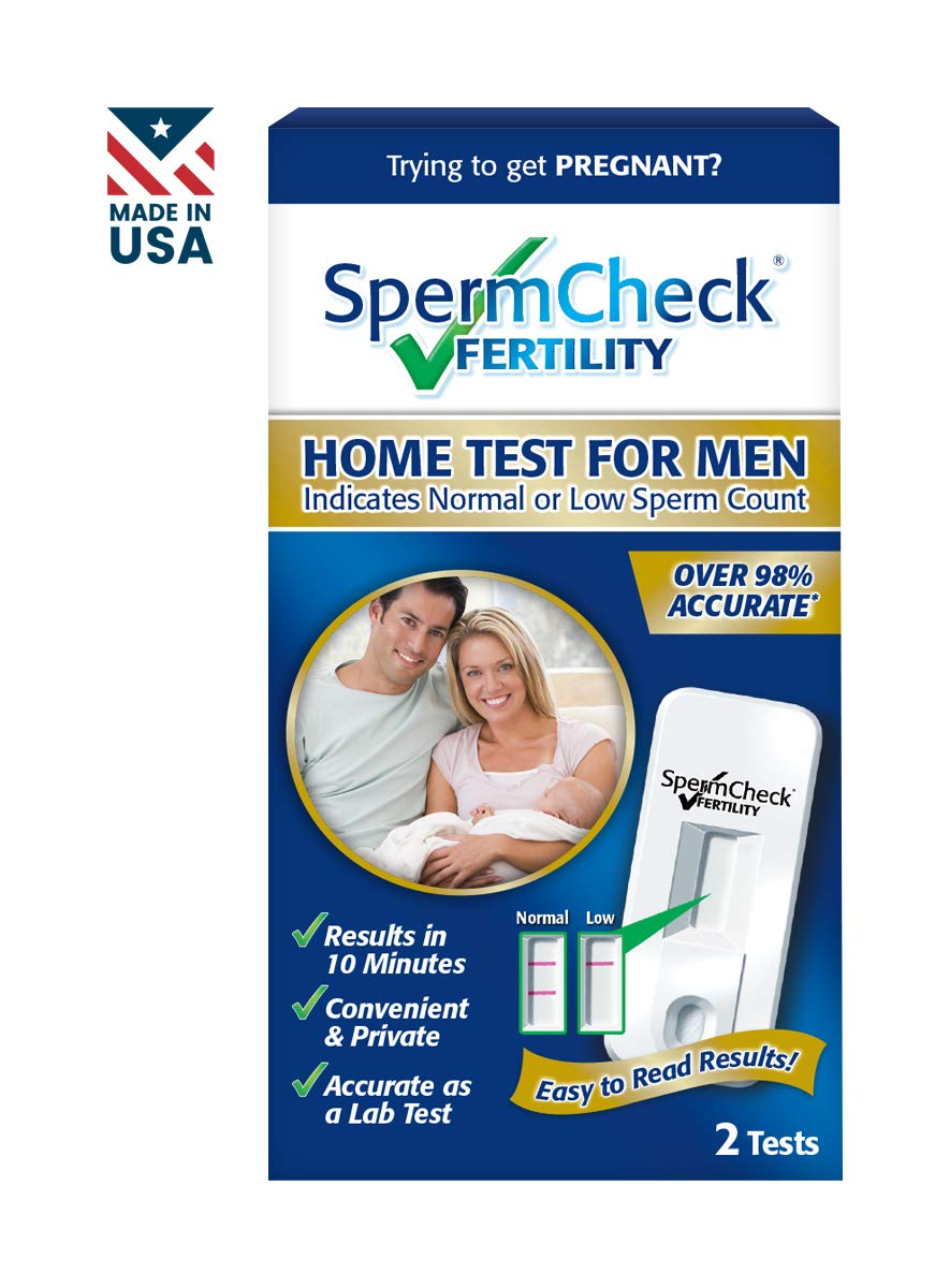 SpermCheck Fertility Home Sperm Test Kit | Indicates Normal or Low Sperm Count | Value Pack of 2 by SpermCheck