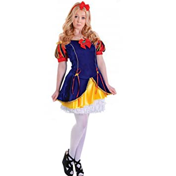 Girls Snow White Costume Teenage Fairy Tale Fancy Dress Costume 12-14 yrs  sc 1 st  Amazon UK : teenage fairy costume - Germanpascual.Com
