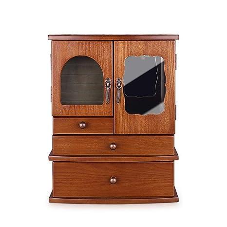 Hongge Caja Joyero,Almacenamiento de Mano-Adornado de Caja de la joyería Collar Vintage