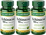 Nature's Bounty Natural Whole Herb Echinacea 400mg, 100 Capsules (Pack of 3) For Sale