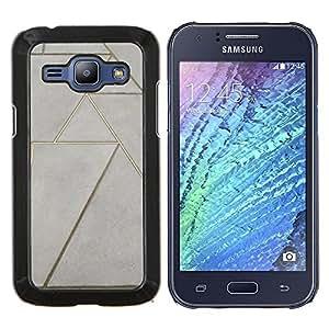 Eason Shop / Premium SLIM PC / Aliminium Casa Carcasa Funda Case Bandera Cover - Piso Diseño arte de la pared - For Samsung Galaxy J1 J100