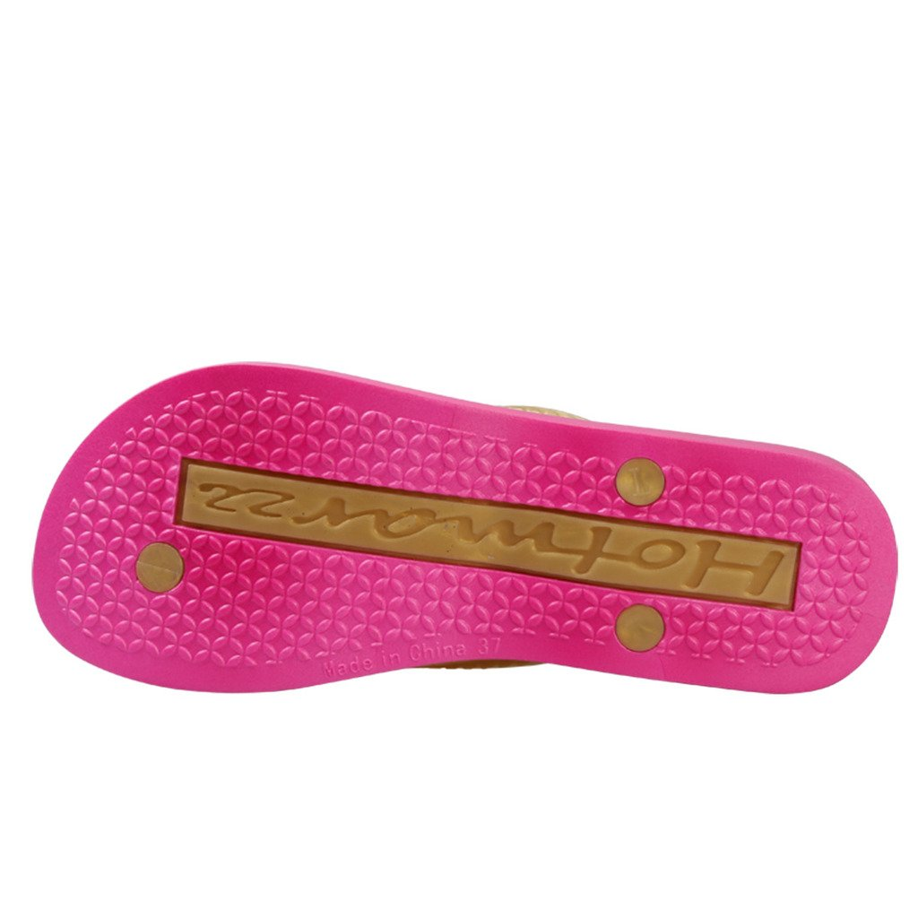 Hotmarzz Damen Zehentrenner Keilabsatz M/ädchen Wedges Sandalen Sommer Platform Flip Flops Schuhe