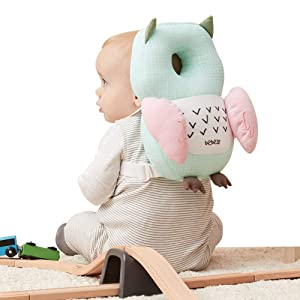 Bebamour Baby Toddlers Head Protective, Adjustable Infant Safety Pad for Baby Walkers Protective Head and Shoulder Protector (Green)