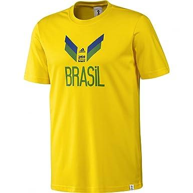 Adidas Holanda Camiseta Retro Camiseta (Naranja), Hombre, Brasil/Gelb, L