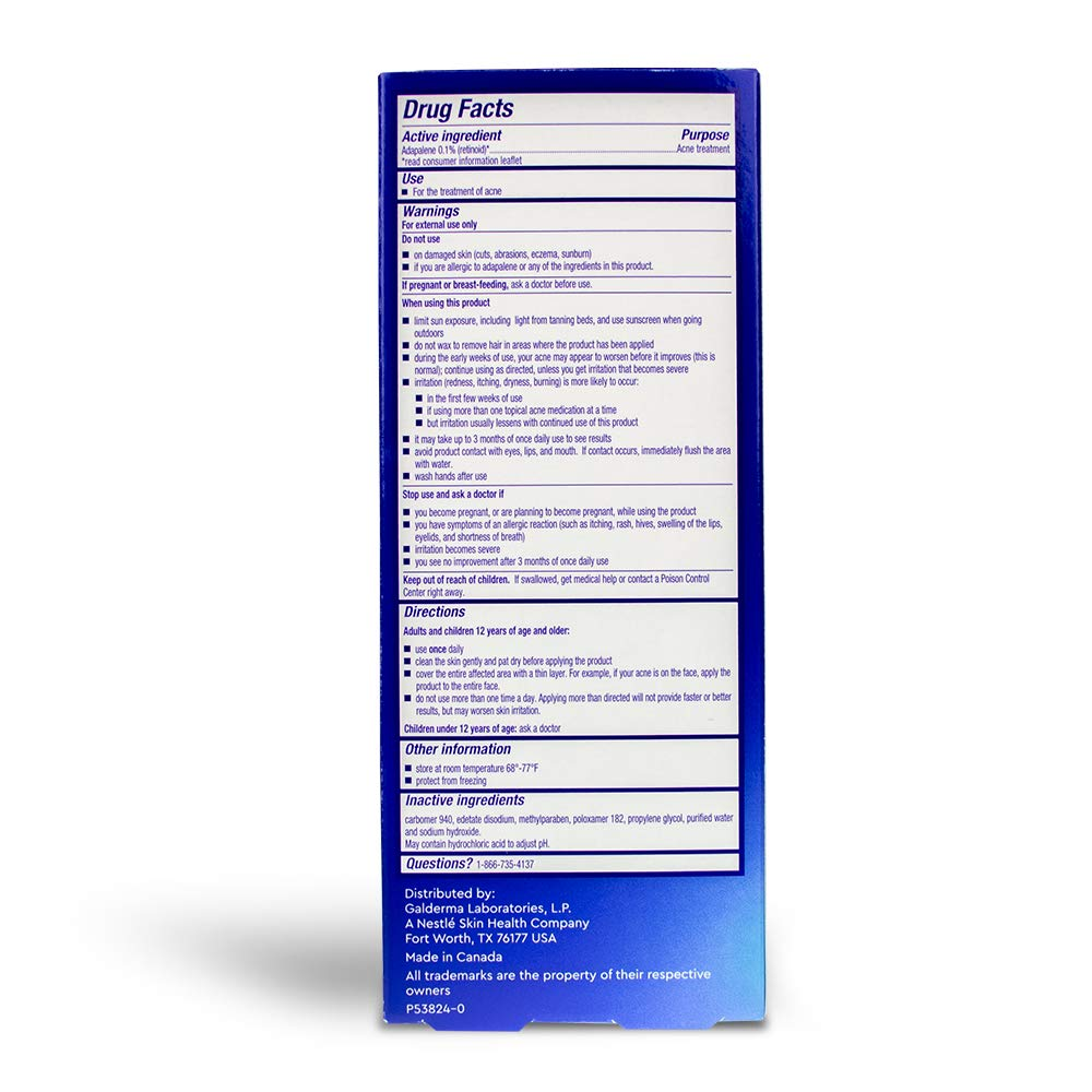 Differin Adapalene Gel 0.1% Acne Treatment, 45 gram, 180-day supply (Pack of 2) by Differin (Image #2)