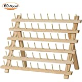 SAND MINE Wooden Thread Rack Sewing and Embroidery Thread Holder, 60 Spools