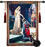Beautiful the Accolade Medieval Fine Tapestry Jacquard Woven Wall Hanging Tapestry (Yw001) (46''X63'')