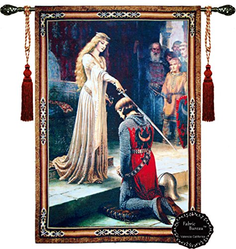 "Beautiful the Accolade Medieval Fine Tapestry Jacquard Woven Wall Hanging Tapestry (Yw001) (46""X63"")"