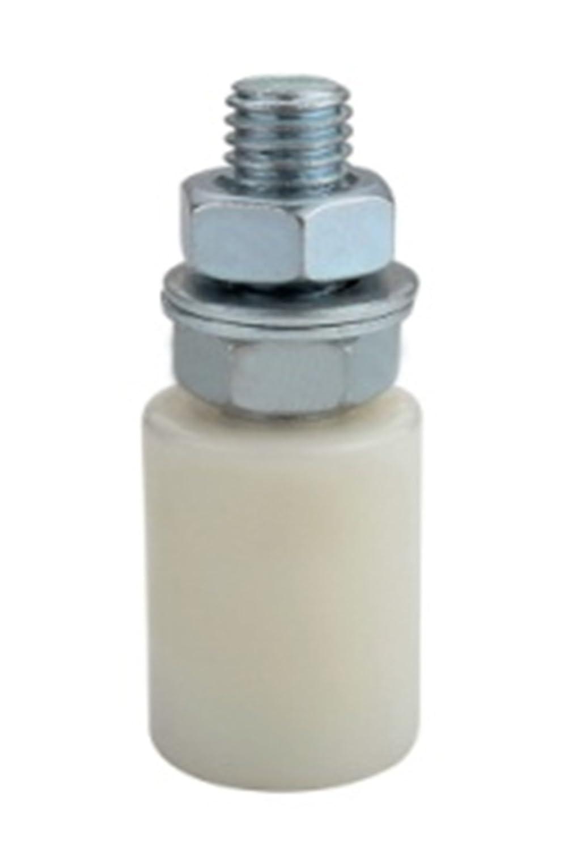 Olive de guidage cylindrique - Rouleau Nylon Ø 30 H40 M12 - bande d'usure Bricometal