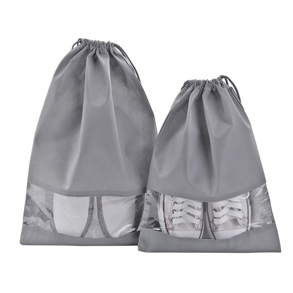 Clearance Deal! Fitfulvan Shoe Bag Multi Purpose Travel Laundry Storage Pouch Zipper Organizer (L)