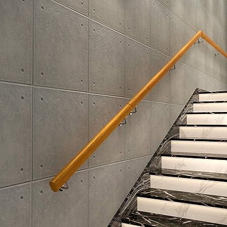 LXYu-Stair handrail Pasamanos de Madera Maciza Antideslizante para Escalera, de 1 a 10 pies, para Montar en la Pared en Interiores y Exteriores, 2,2 m: Amazon.es: Hogar