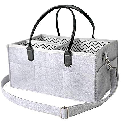 Organizador de pañales para bebé, cesta de almacenamiento ...
