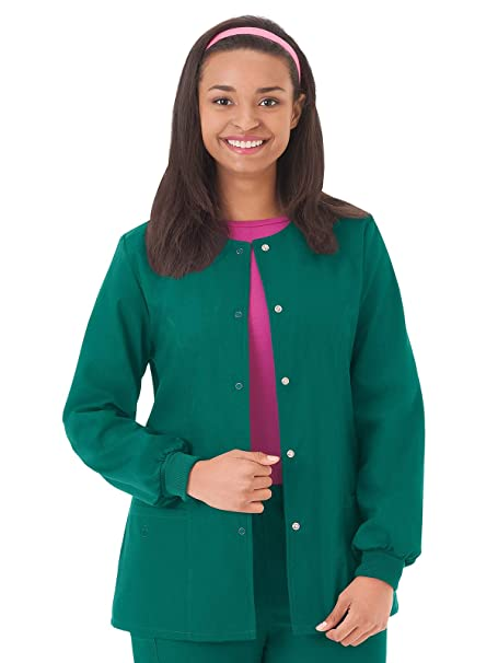 84525bc3acc Amazon.com: Fundamentals 14740 Women's Warm-Up Scrub Jacket: Clothing