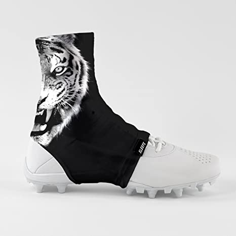 1cf2710fc00 Image Unavailable. Image not available for. Color  Black Tiger Spats Cleat  Covers