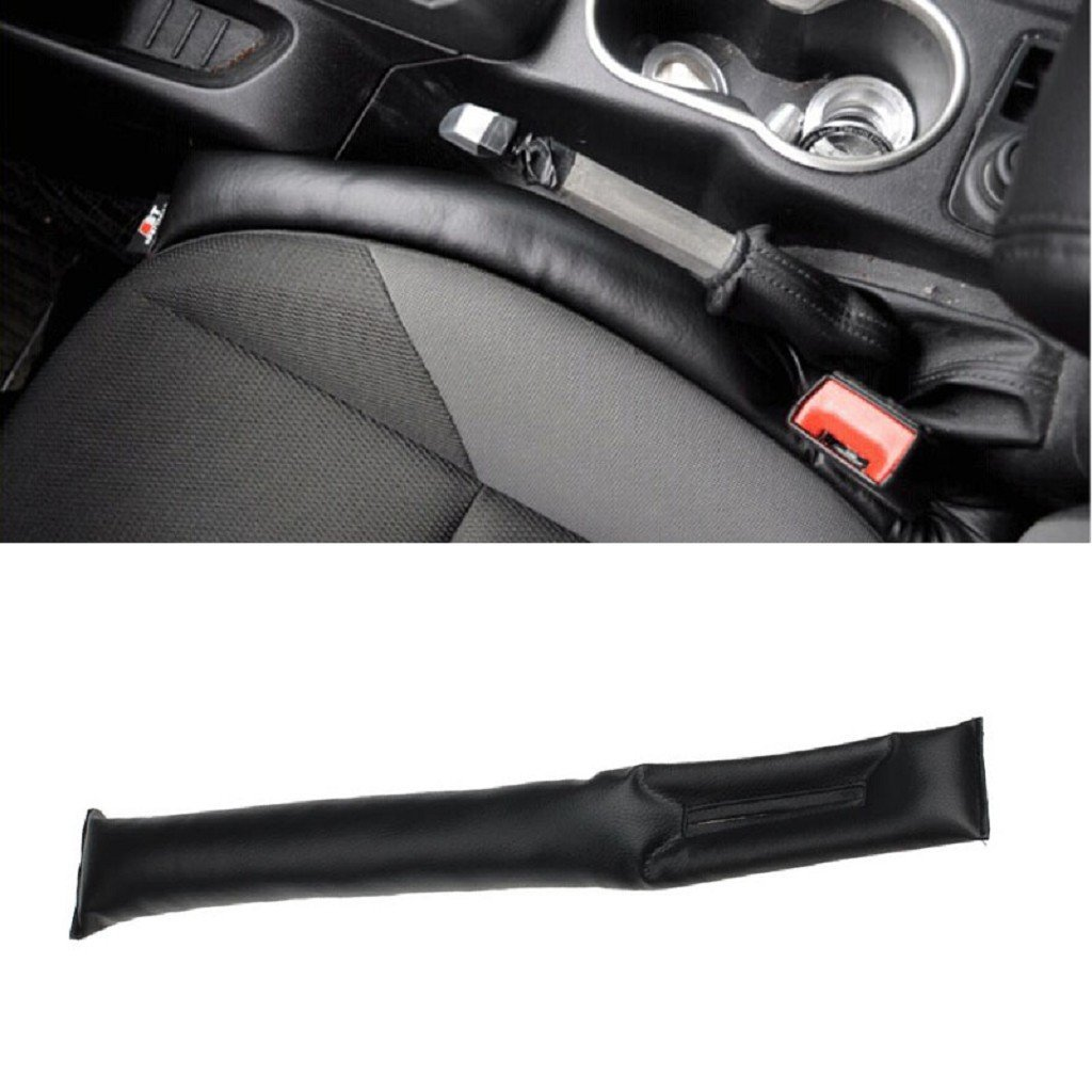 Black Oyedens Oyedens 2Pcs Car Seat Crevice Gap Stopper Pu Leather Leakproof Protector Car Seat Pad