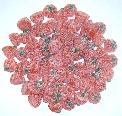 Pumpkins Sour Gummy - Scott's Cakes Sour Gummi Pumpkins in a 1 Pound Plastic Deli Container