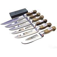 Mutfak Bıçak Seti 6'li Sürmene Bilezikli Soğuk Mühür (Bileme Taşı Hediyeli)