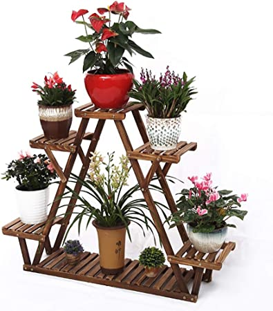 Macetas para Flores Estante\Soporte de Flores Escaleras Estanterías de jardín Interior Herbal Pots Showcase Plegable de Pino (Opciones de tamaño múltiple) Marco de tablilla (Tamaño : 113 * 85cm): Amazon.es: Hogar