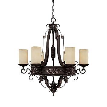 capital lighting 3606ri 125 chandelier with rust scavo glass shades