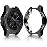 Ronshin Soft TPU Protector Watch Case Cover For Samsung Galaxy Watch 42mm 46mm black 42mm