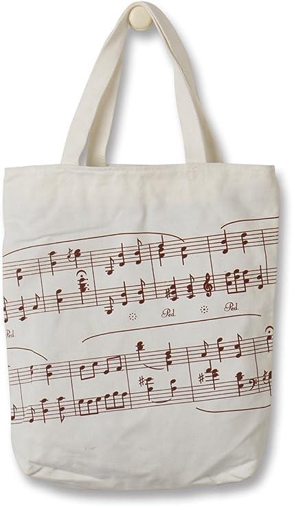 Música Piano bolsa, mejor para Piano partituras cumpleaños regalos para niños y niñas, 100% lona de algodón bolsa de libro para libros de música o de biblioteca, Personal, Piano Violín lecciones: Amazon.es: