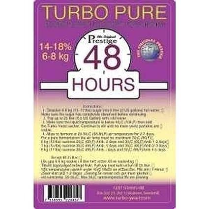 Turbo Levadura Prestige Turbo Pure 48h, 18% Alcohol En 5 días, gärhefe,