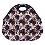 Best ICOLOR Kid Lunches - DKISEE Floral Purple Floral 06 Large & Thick Review