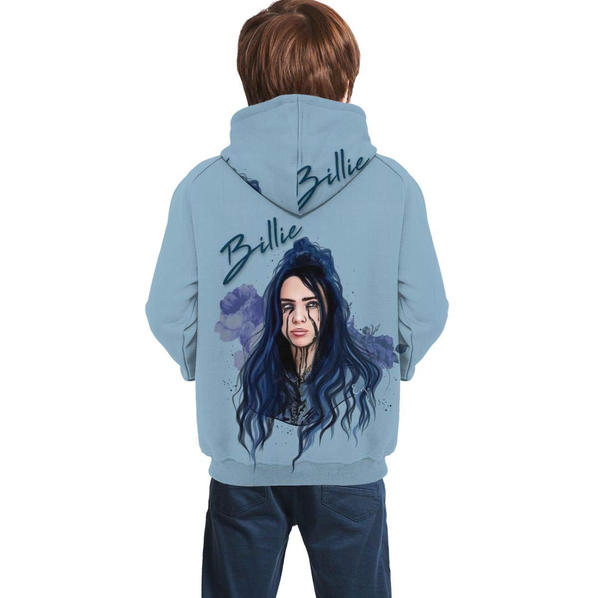 JInHuaLong Billie Eilish Hoodie Kids Sweatshirts Hoodies Youth Long Sleeve Tops 3D Print Unisex Pullover for Boys Girls