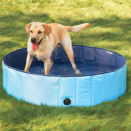 Best Price ETbotu Portable Pet Bathtub Collapsible Waterproof Bath Tub Swimming Pool