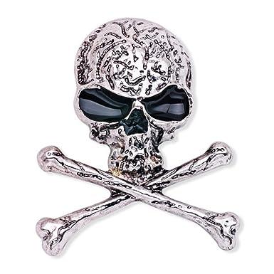 LUOEM Broche de Huesos de cráneo Broche de Esqueleto Punky gótico ...