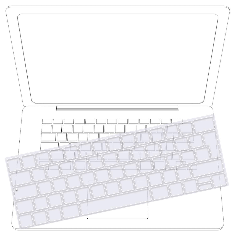 Tastatur Schutzfolie Silikon EU Layout Transparent TECOOL Tastaturschutz f/ür 2018 Neu MacBook 13 Air A1932 mit Retina Display und Touch ID