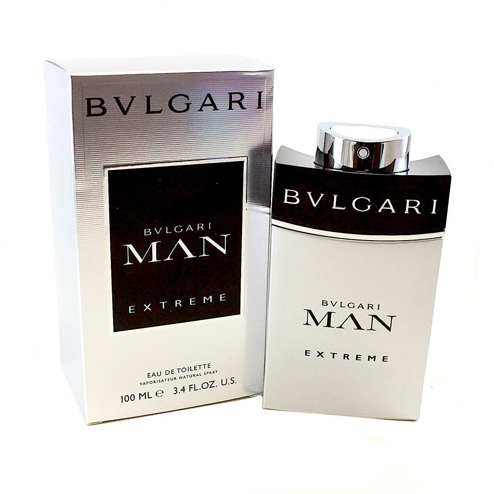 Bvlgari Man Extreme Eau De Toilette Spray for Men, 3.4 Ounce